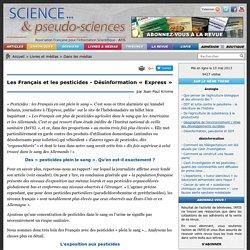 Les Français et les pesticides - Désinformation « Express »