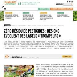 Zéro résidu de pesticides : des ONG évoquent des labels « trompeurs »