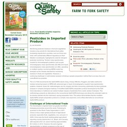 FOOD QUALITY - DEC 2014 - Pesticides in Imported Produce