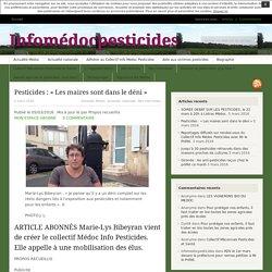 Pesticides : « Les maires sont dans le déni »