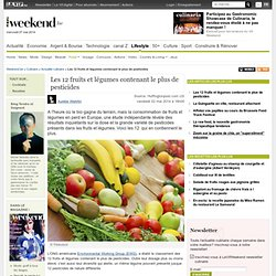 Les 12 fruits et légumes contenant le plus de pesticides - Actualité culinaire - Culinaire