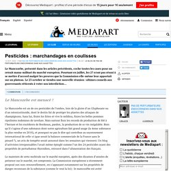 Pesticides : marchandages en coulisses