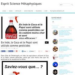 En Inde, le Coca et le Pepsi sont utilisés comme pesticides