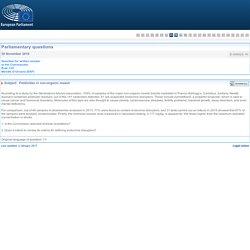 PARLEMENT EUROPEEN - Réponse à question E-009020-16 Pesticides in non-organic muesli