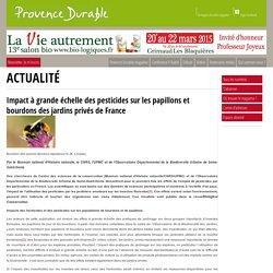 Impact à grande échelle des pesticides sur les papillons et bourdons des jardins privés de France