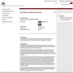 PARLEMENT SUISSE 22/06/07 Objectif Suisse sans pesticides en 2015