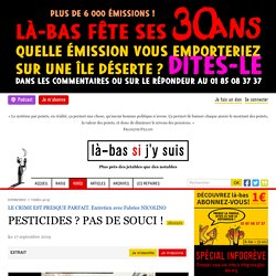 Pesticides ? Pas de souci !