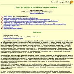 Impact des pesticides sur les Abeilles et les autres pollinisateurs par Jean-Noël Tasei