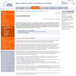 Les pesticides - Prévention