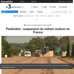 Pesticides : suspension du métam sodium en France - France 3 Pays de la Loire