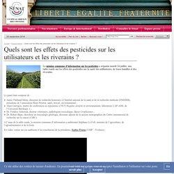 SENAT - JUILLET 2012 - Quels sont les effets des pesticides sur les utilisateurs et les riverains ?