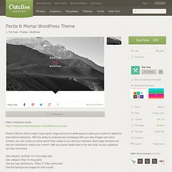 Pestle & Mortar WordPress Theme