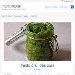 Pesto d'ail des ours - Mariatotal