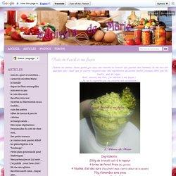 Pesto de brocoli à ma façon