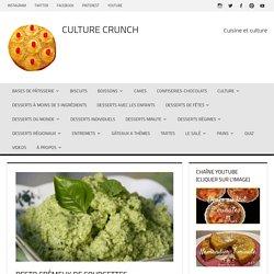 Pesto crémeux de courgettes