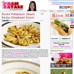 Pesto Palmiers (Basil Pesto Elephant Ears