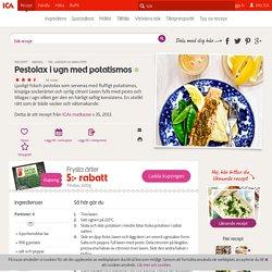 Pestolax i ugn med potatismos