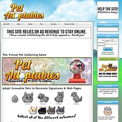 Pet Adoptables Virtual Pets