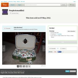 Pet Bed by PurpleArmadillo2 on Etsy