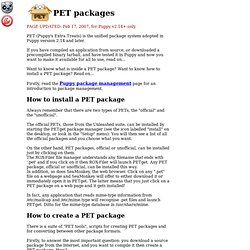 PET packages