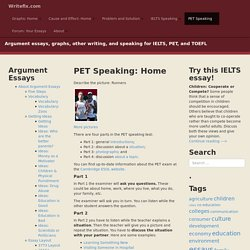 PET Speaking: Home – Writefix.com