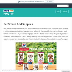 Pet Stores And Supplies