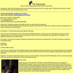 Pet Testimonials