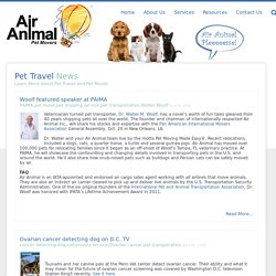 Pet Travel News – Air Animal