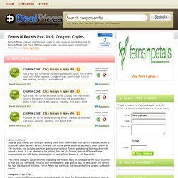 Ferns n petals discount coupon