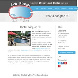 The CSRA's Premier Pool Builder
