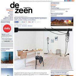 Sarah Van Peteghem restyles Berlin apartment with woollen lamps
