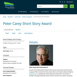 Peter Carey Short Story Award