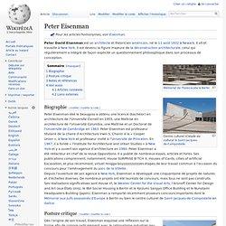 Peter Eisenman — Wikipédia - Waterfox