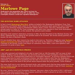 Peter Farey's Marlowe Page