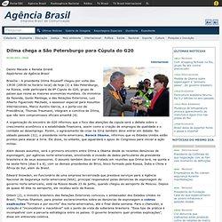 Dilma chega a São Petersburgo para Cúpula do G20