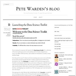 Launching the Data Science Toolkit