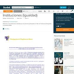 3.Peticiones a Las Instituciones (Igualdad)
