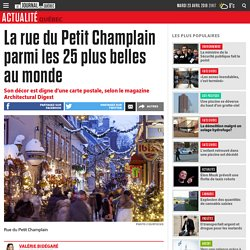 La rue du Petit Champlain parmi les 25 plus belles au monde