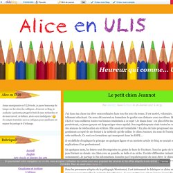 Le petit chien Jeannot - Alice en ULIS