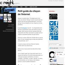 Petit guide du citoyen de l'Internet