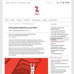 Petit guide de désintox sur le CETA