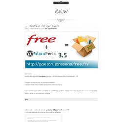 Petit_Nuage's Stunning World » Wordpress 3.5 chez free.fr
