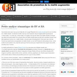Petite analyse sémantique de RV et RA