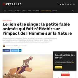 Le lion et le singe - Impact de l'Homme sur la Nature