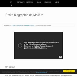 Petite biographie de Molière