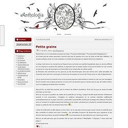 Pourquoi un blog (besoin de parler)