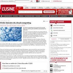 Petite histoire du cloud computing - Informatique