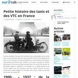Petite histoire des taxis et des VTC en France - Eurecab