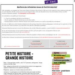 Petite histoire - grande Histoire / Le Pavé