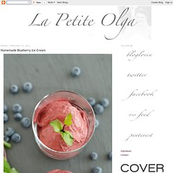 La Petite Olga: Homemade Blueberry Ice Cream